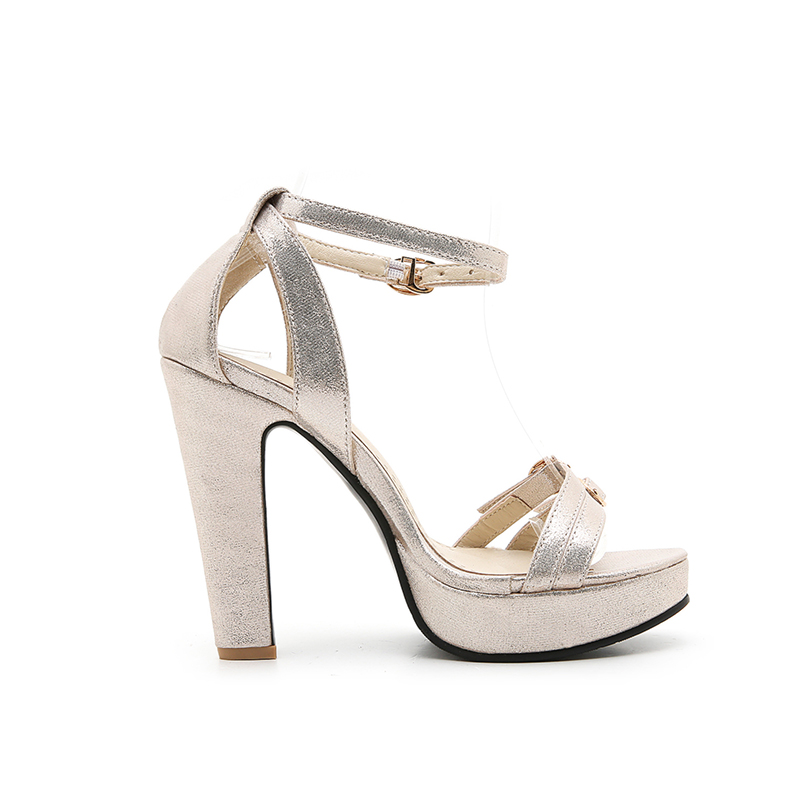 Donna Tacchi alti New Buckle Scarpe Strap Party Summer Doratasia 43 Nero Size Sandali Oro Donna 34 Platform Trendy Big Argento AnOxxq7Wwa