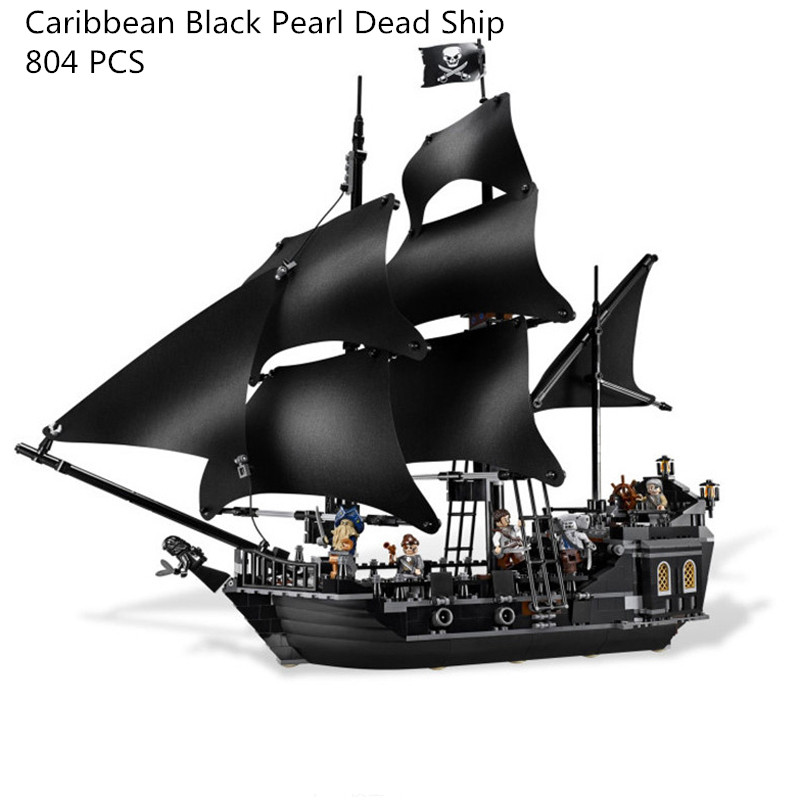 16006 804pcs Pirates of the Caribbean Black Pearl Dead Ship model Builidng Blocks Children toys Bricks CompatibleLegoe 4184 kazi 1184pcs pirates of the caribbean black general black pearl ship model building blocks toys compatible with lepin