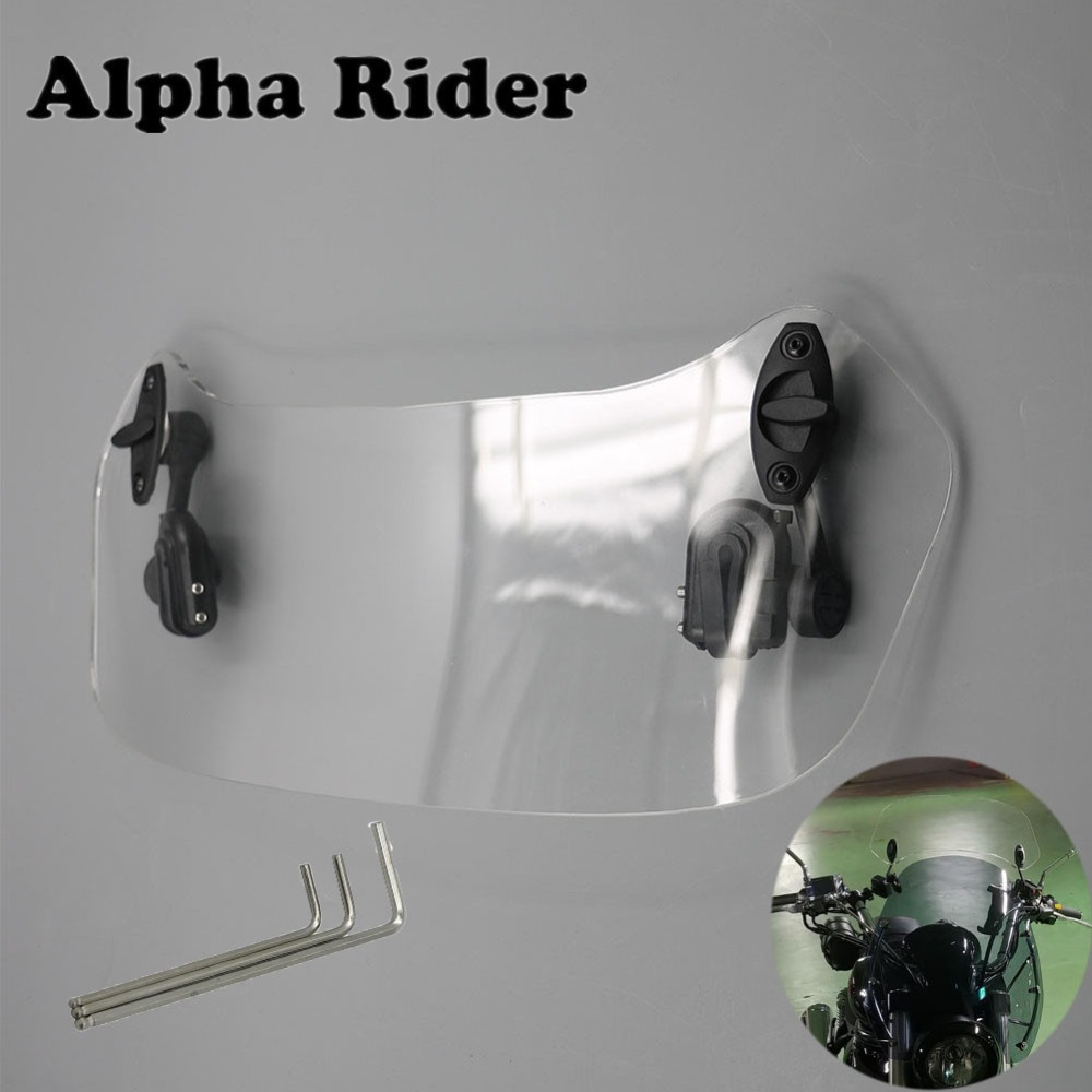 Motorcycle Risen Adjustable Windscreen Windshield Spoiler For Yamaha YZR R1 YZF R1 R3 R15 YZF R1