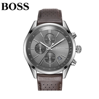 2019 Boss мужские роскошные модные часы кожаные спортивные из нержавеющей стали корпусные кварцевые часы кожаный ремешок деловые наручные час