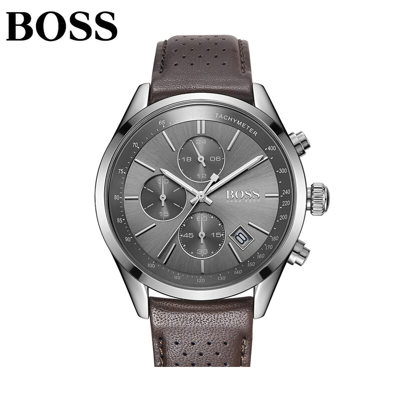 2019 Boss Men Watches Fashion Luxury Leather Sport Stainless Steel Case Quartz Watch Leather Band Business Wristwatch2019 Boss Men Watches Fashion Luxury Leather Sport Stainless Steel Case Quartz Watch Leather Band Business Wristwatch