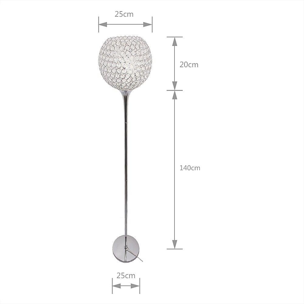 Image 2 - Floor Lamp crystal floor lamp Modern Floor Light LED E27 torso lighting 1.6m high Living room bedroom study decoration light-in Floor Lamps from Lights & Lighting