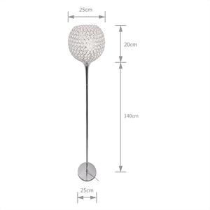 Image 2 - Floor Lamp crystal floor lamp Modern Floor Light LED E27 torso lighting 1.6m high Living room bedroom study decoration light