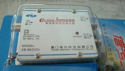 Бесплатная Доставка SB8620D2 CATV Усилитель сигнала замкнутого цифровое кабельное ТЕЛЕВИДЕНИЕ усилитель 1 в 2 выход SB-8620D2