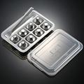 4/6/8 PCS Stainless Steel 304 Whisky Stones Ice Cubes in Package, Whiskey Cooler Rocks, Ice stones, GIFT With Plastic Box