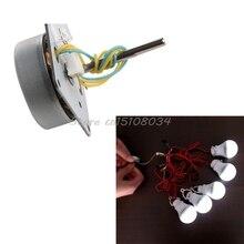 Turbinas de Vento 3-24 V 12 Mini Micro 3-phase Alternador Gerador de MÃO Alimentação AC S018y Alta Qualidade