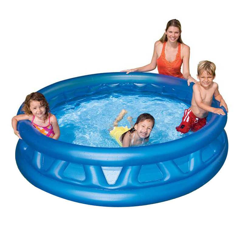 プラスチック固体ブルーインフレータブル丸底排水孔大サイズ 188*46 センチが水遊び海ボール家族のスイミングプール