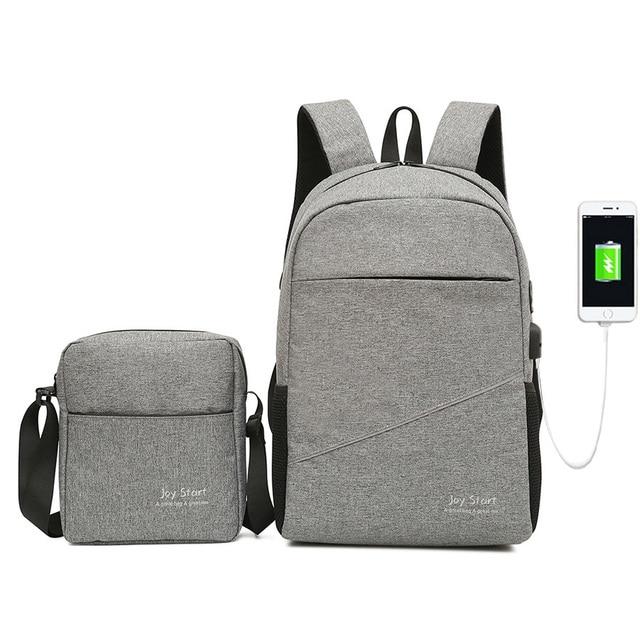 8a58faacef1 Men and Women Backpack Set Couple Canvas Large Travel Backpack Male Multi  Function Usb Charging Laptop Bag Shoulder Bag Rucksack