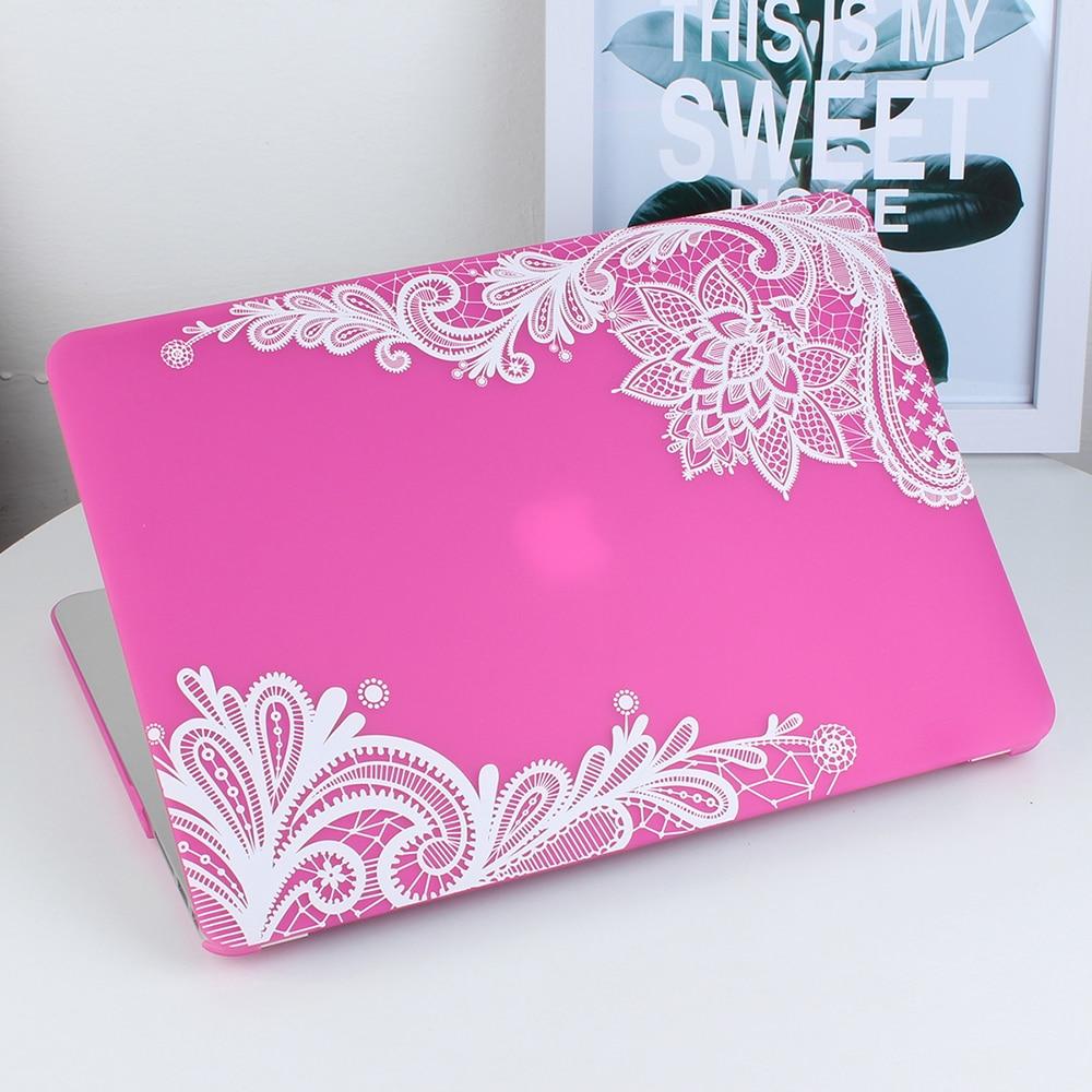 Nowa moda dla dziewczyn Matte Lace Hard Case Cover do Macbook Air 13 - Akcesoria do laptopów - Zdjęcie 6
