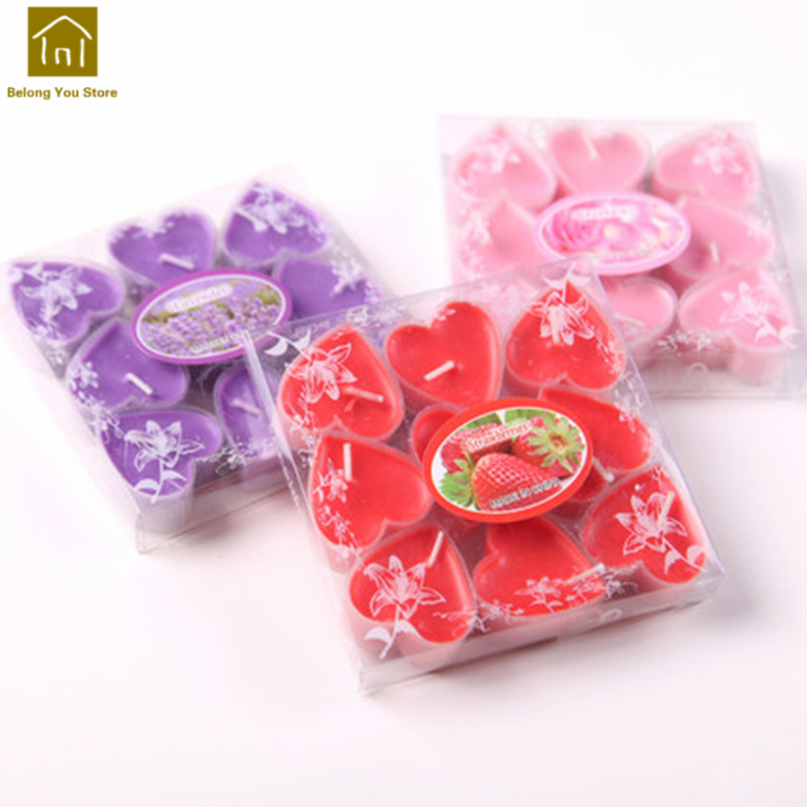 High Quality Heart Shape Gift Flickering Flameless Taper Candles ...