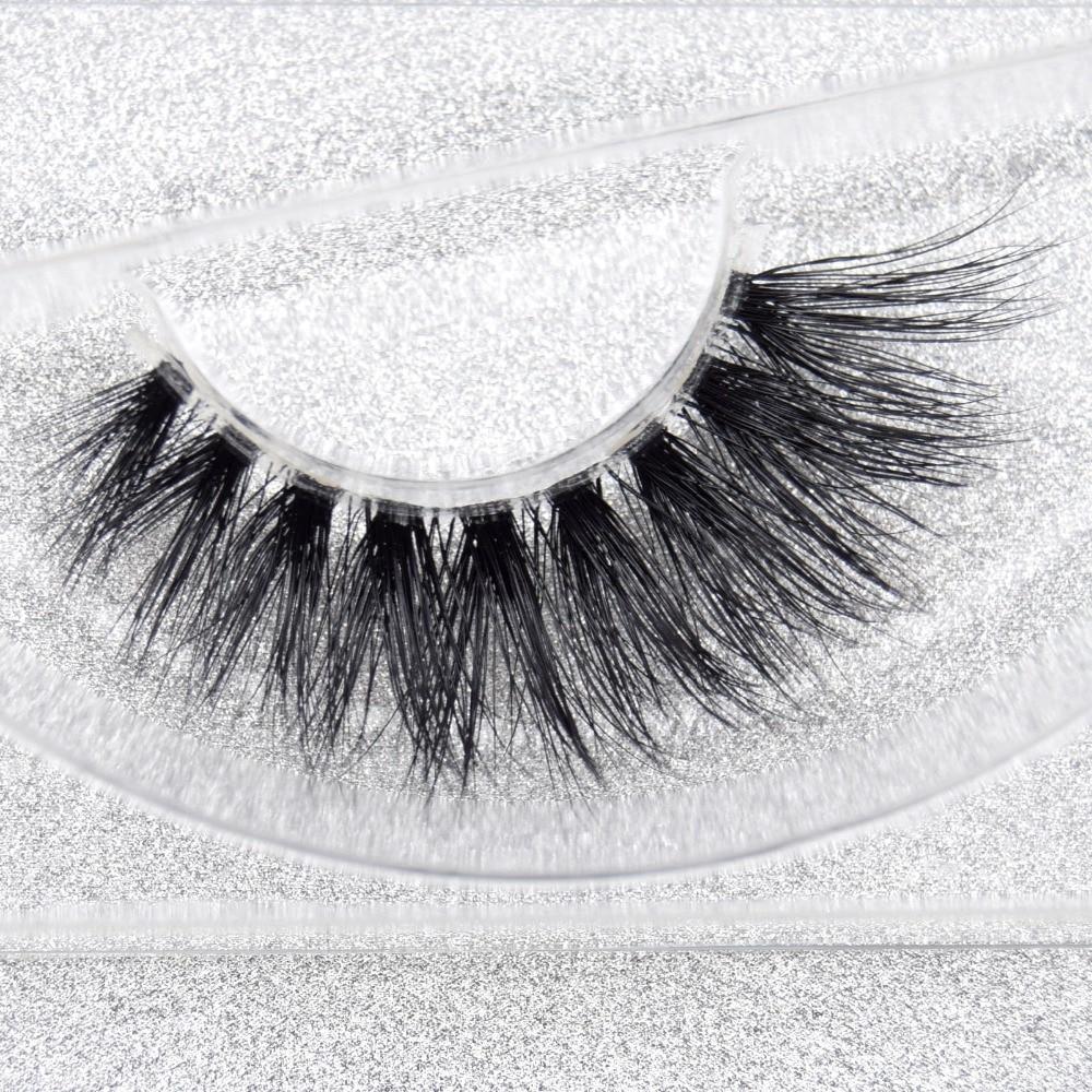 Visofree Mink Lashes 3D Mink Eyelashes Invisible Band Thick Messy Mink False Eyelashes Extension Fake Lashes Full Strip Cilios