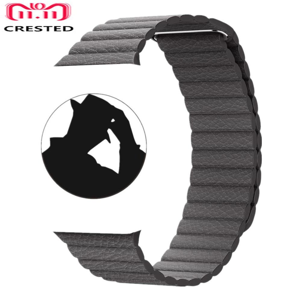 CRESTED Echtem Leder Schleife Für Apple Uhr band strap 42mm/38mm iwatch serie 3 2 1 handgelenk bands armband gürtel armband straps