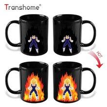 Transhome Creative Color Changing Mug 300ml Dragon Ball Z Vegeta Heat Sensitive Ceramic Drinkware For Tea Milk Coffee Mugs Cup