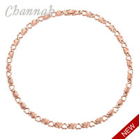 2016 Women Heart 4in1 Stainless Steel Necklace Ladies Lover Jewelry Bio Gift RoseGold 26pcs Magnets Free