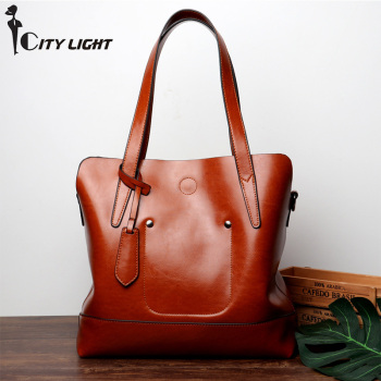 Genuine Leather Women Bag Large Capacity Tote Bag Big Ladies Shoulder Bags Famous Brand Bolsas Feminina Fashion Women Handbag