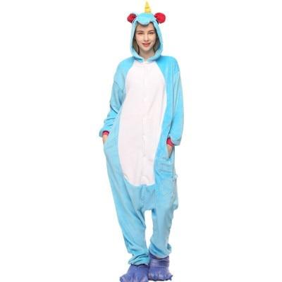 2018 New Sping Autumn and Winter Pajama Sets Flannel Animal Unicorn Cartoon Sleepwear Pyjamas Pijama Women Cosplay Home