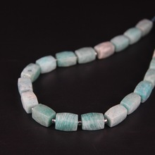 21pcs/strand,Natural Peru Amazonite Faceted Cube Nugget Loose Beads,Cut Rough Stone DIY Pendant Necklace Bracelet Jewels Making