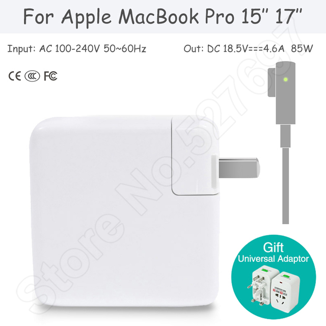 85W Power Adapter for Apple MacBook Pro 15'' 17'' A1211 A1290 A1297 A1226 A1175 A1150 A1343 A1229 A1151 A1172 A1222 A1212 A1260