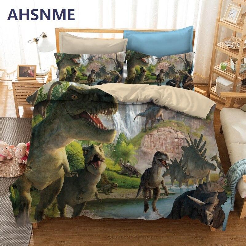 AHSNME Динозавр-стиль постельные принадлежности T-Rex узор Стёганое одеяло крышка мальчик любимый домашний текстиль нескольких стран размер дл...