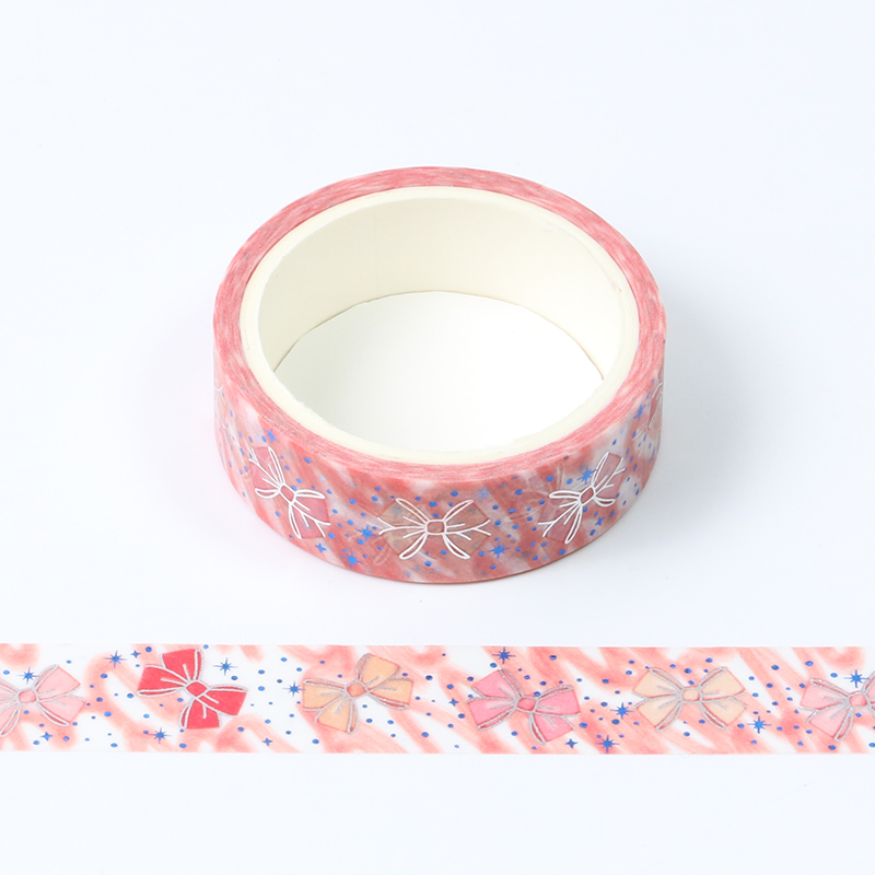 Kawaii Pink Bow Bullet Journal Washi Tape Cute Decorative Adhesive Tape DIY Scrapbooking Sticker Label Stationery