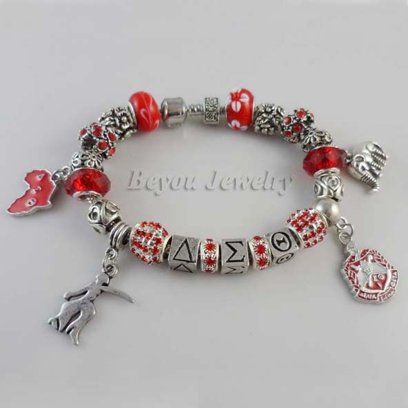 Newest Delta Sigma Theta Sorority  letter elephant   Bracelet 1 pc  free shipping