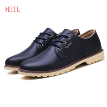 British Style Casual Leather Business Men Shoes Brand Luxury Breathable Comfort Flats Fashion Trend Spring Lace Up Mans Shoes цена 2017