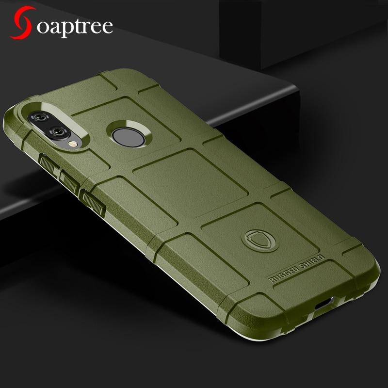 Rugged Shield Silicone Cases For Xiaomi Redmi Note 7 6 5 Pro Plus Case Armor For Xiaomi Pocophone Poco F1 Mi Play Mix 2S Cover