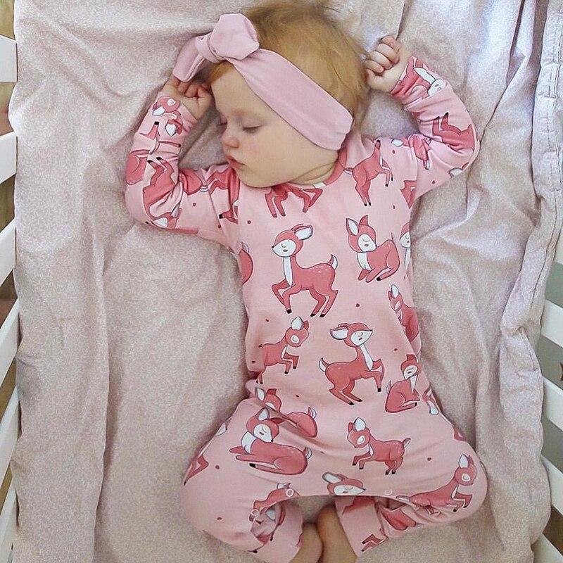 TinyPeople nuevo bebé Romper Navidad ciervo estampado algodón otoño niño recién nacido Ropa Bebé Ropa manga larga Niña mono