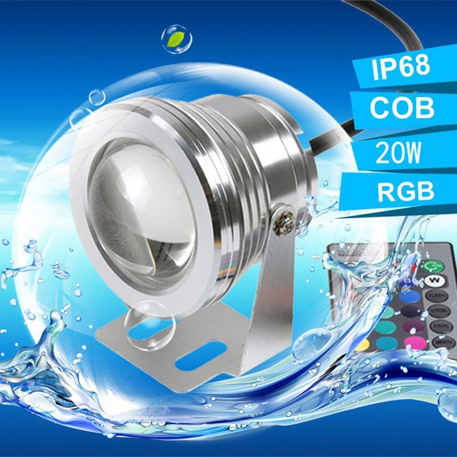 20W 12v subacvatic RGB Led Lumina rezistentă la apa IP68 fântână - Iluminat exterior - Fotografie 3