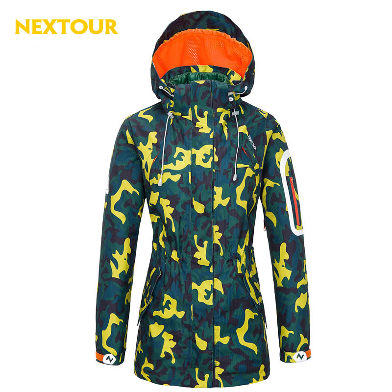 где купить  NEXTOUR outdoor Ski Jacket Women 3in1  Windbreaker  Removable cotton liner /cap Thermal Waterproof Large Size Jacket Hiking SKI  по лучшей цене