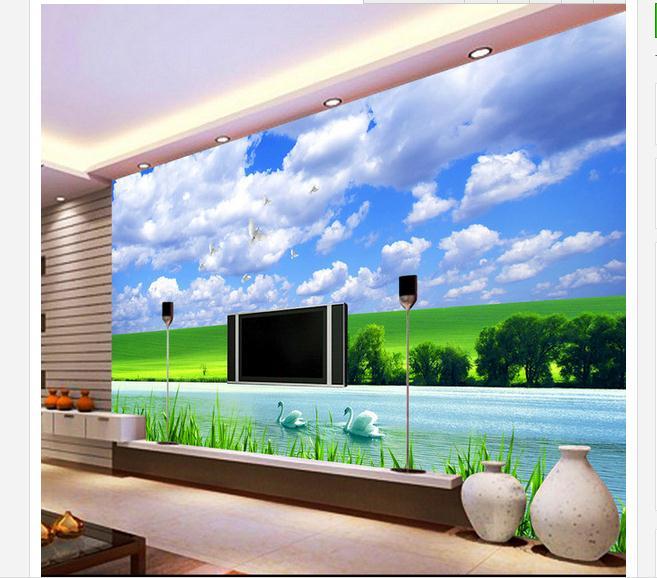Customized 3d wallpaper 3d tv wallpaper murals Landscape grass TV wall paper photo living room wallpaper
