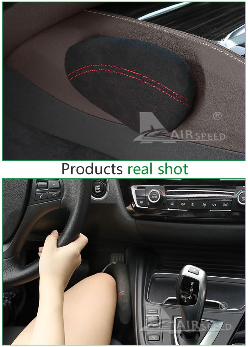 Leather Leg Cushion Knee Pad Thigh Support Pillow Interior Car Accessories for BMW E46 E39 E60 E90 E36 F30 F10 X5 Z4 7 (7)