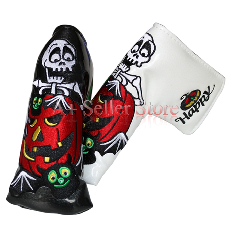 1pc OEM Pumpkin Happy Hallowmas Golf Club Putter Headcovers Embroidery with  magnet Black/White-in Golf Clubs from Sports & Entertainment on  Aliexpress.com ...