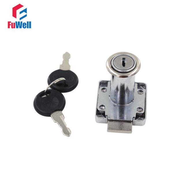 Desk Drawer Lock 19mm Cylinder Head Cabinet Furniture Security Lock  22mm/32mm Cylinder Head Length Wardrobe Cam Lock With Keys