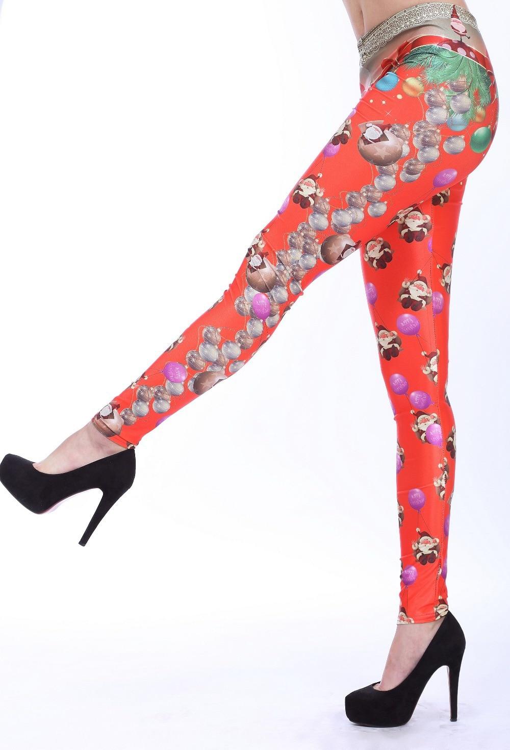 395f45d4f66 Plus Size Christmas Leggings Santa Claus Leggins Women Clothing Elastic  Female Pants Trousers Slim Women Pencil Pants 2015 -in Leggings from Women s  ...