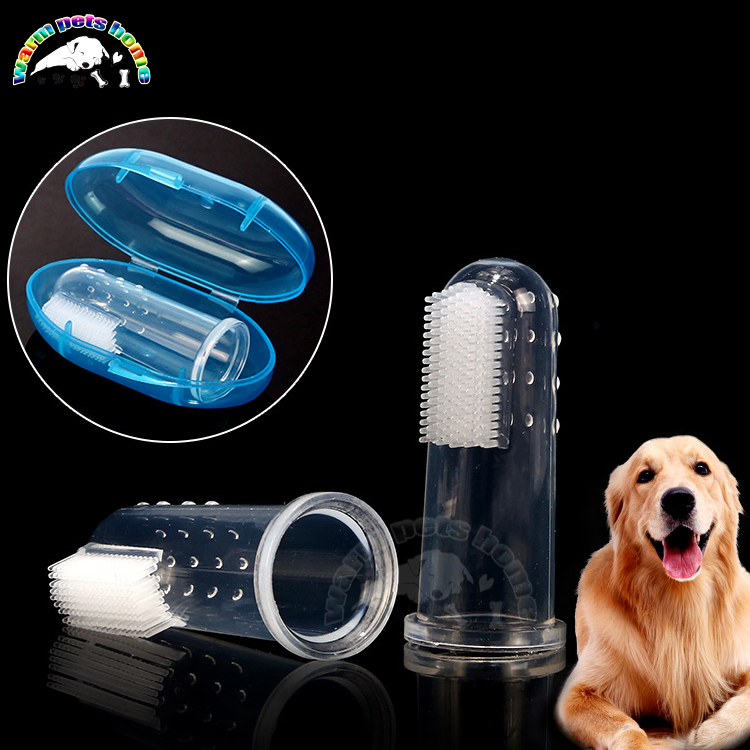 20PCS Dog Silicone Finger Toothbrush for Dogs Cats Pet Bad Breath Tartar Remover Dog Tooth Brush Teeth Cleaning for Dogs image