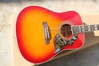 Firehawk China Factory Custom Shop Hummingbird Model Cherry Red Burst Spurce Top Maple Back & Sides Acoustic Guitar
