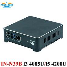 Причастником Мини-ПК маршрутизатор I3 4005U I5 4200U J1900 Dual LAN брандмауэр прибор вентилятор и без вентилятора Системы Алюминий сплав Бесплатная доставка