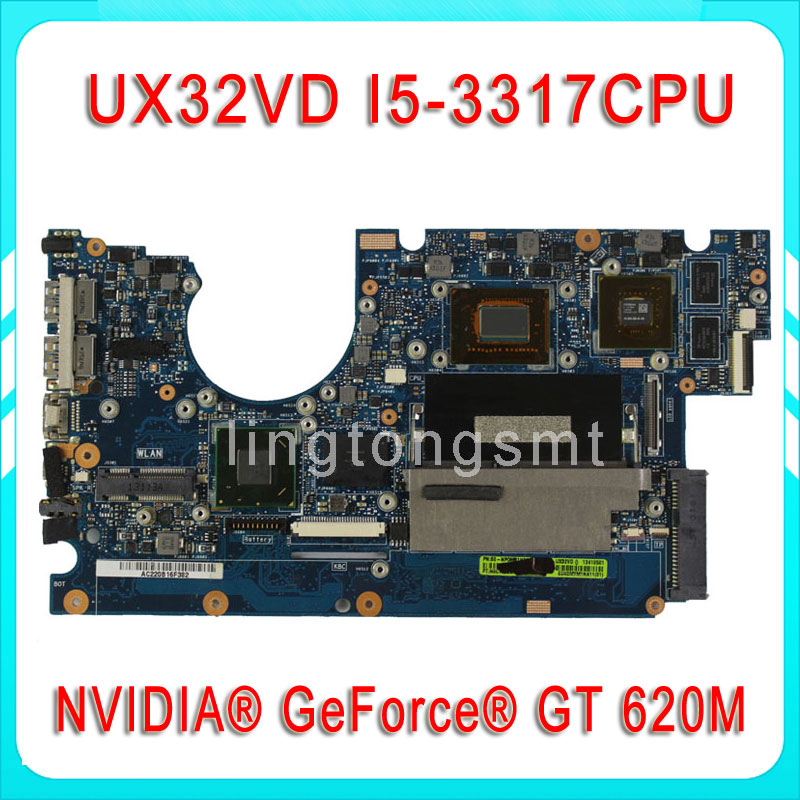 Original for ASUS UX32V UX32VD motherboard UX32VD REV2.4 Mainboard Processor i5-3317 2G Memory on board 100% tested  original notebook motherboard x54c k54c for asus rev 2 1 system pc mainboard with ram on board