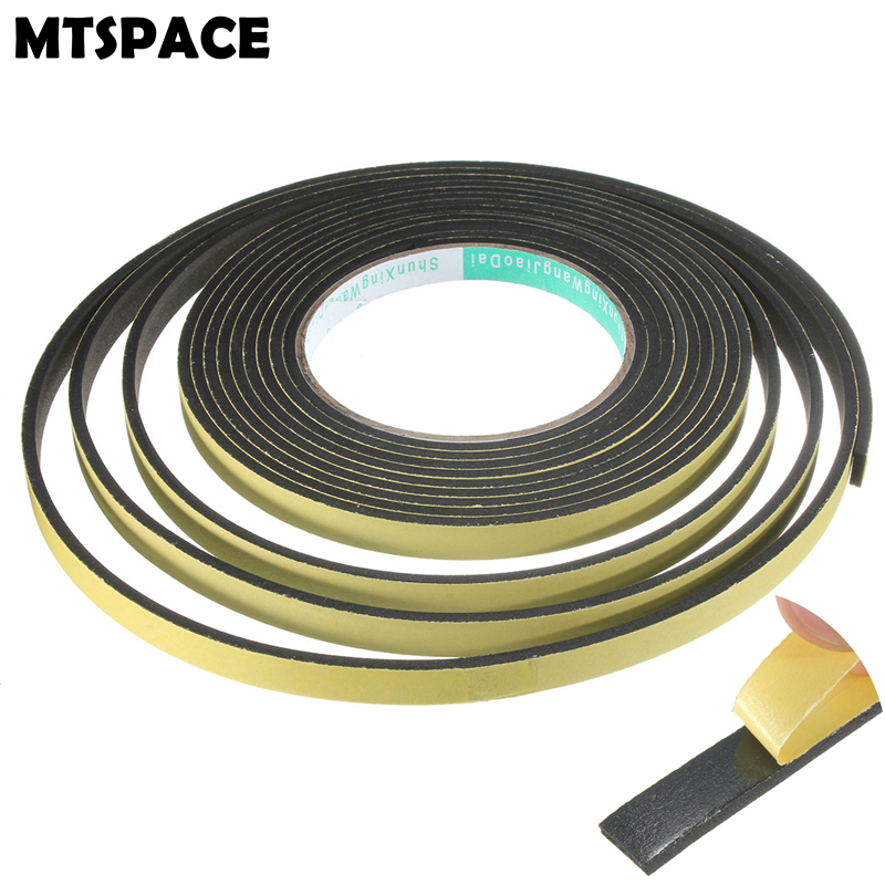 MTSPACE 5M 3x10mm Single Sided Adhesive Waterproof Weather Stripping Foam Sponge Rubber Strip Tape Door Seal Best Price ...
