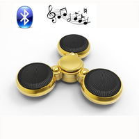 Lumineux Music Player Tri Fidget EDC Hand Spinner Fidget Spinner Bluetooth Speaker With Microphone Anti Stress