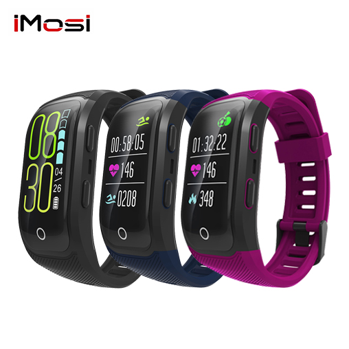 Imosi S908S Color Screen Activity Fitness Tracker smart band IP68 Waterproof GPS Heart Rate Monitor sport