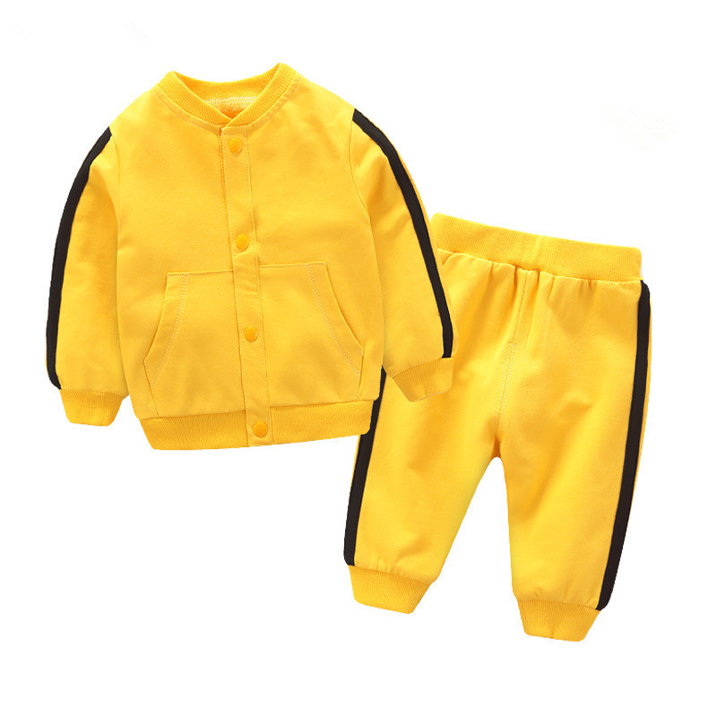 Baby Boys Striped Clothing Sets Toddler Girls Jackets+Pants Outfits Children Casual Tracksuits Infant Kids Sport Suits Costumes wholesale new fashion autumn casual sport suits tracksuits for kids gold chain printing hip hop outwear boys clothing sets