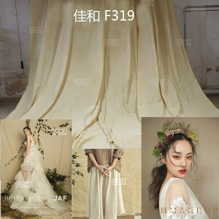 Nouveau fond de mariage cravate teints mousseline décors pour studio de photographie peint à la main famille portrait photographie décors F319