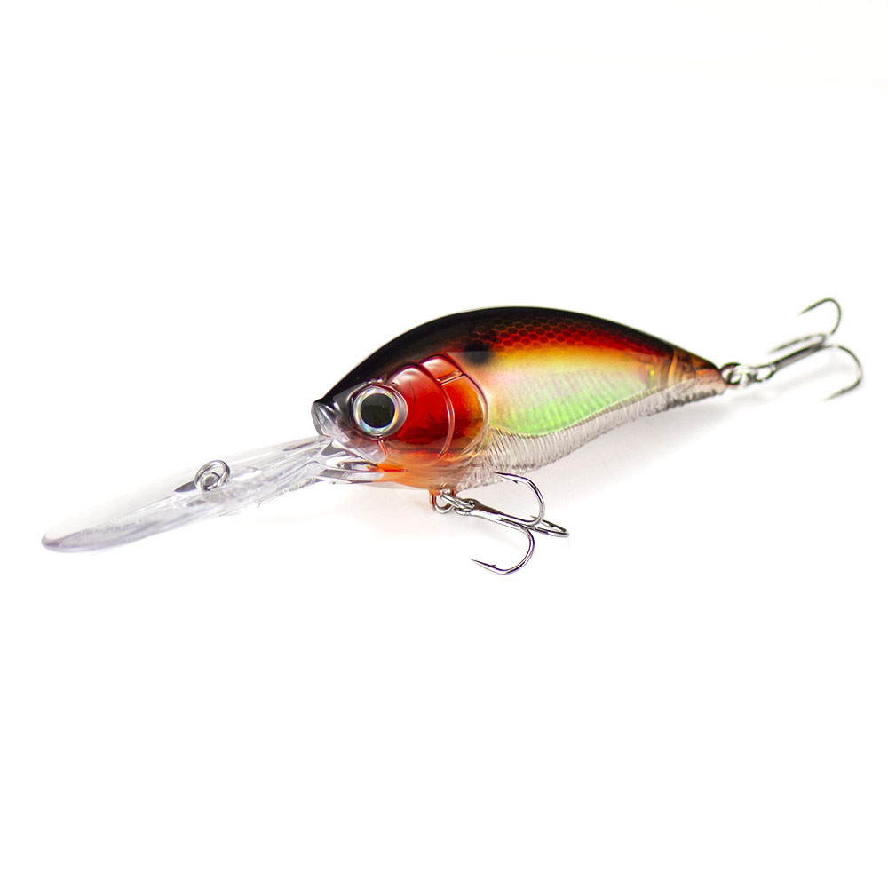 COUNTBASS 3D Deep Crank Baits Fishing Lures 70mm 21g Floating, Diving Depth 3.5-4.5m Wobbling Angler's Leurre HardBaits