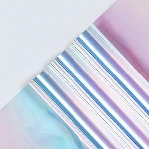 Image 3 - Nicrolandee 20 インチ × 10 ヤード花の包装虹色セロハン虹フィルムクリスマス誕生日結婚式の装飾用品