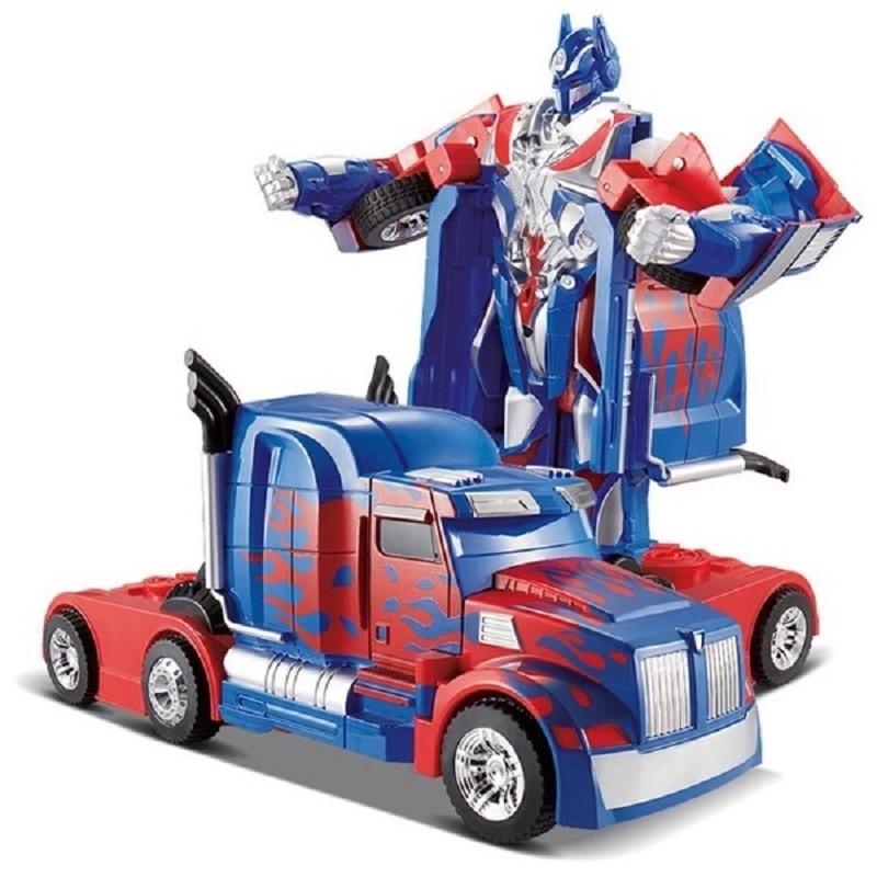 ФОТО Free Shipping Luxury Sportscar Models Deformation Robot Transformation Remote Control RC Car Toys Kids Gift TT669