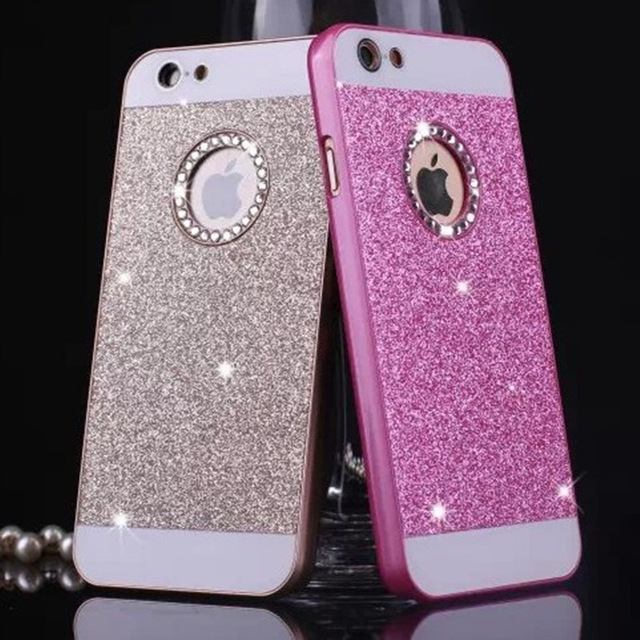 timeless design 53d9f 06932 US $2.98 |luxury Rhinestone case for iphone SE 6 6S 6Plus 7 7Plus glitter  pink PC cover mobile phone accessories by noble quality original on ...