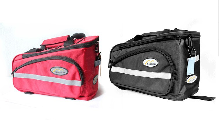 ФОТО Waterproof bicycle bag WITH WATERPROOF COVER 6230 33*22*17*16cm 12L BLUE BLACK AND RED color hot sale high quality Free shipping