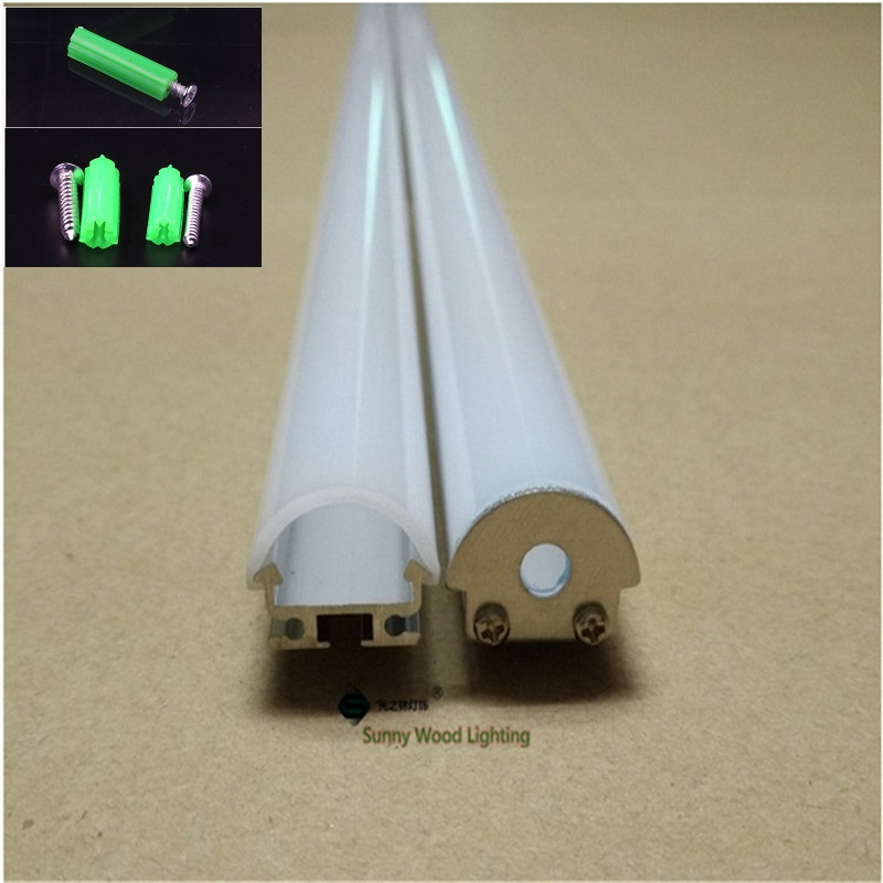 10-40pcs/lot 2m 80inch led aluminium profile for 14mm strip , led bar light led tape housing with PC cover and accessories free shipping super wide u shape aluminum anodized profile for led strips with cover and end caps for dual row led strip